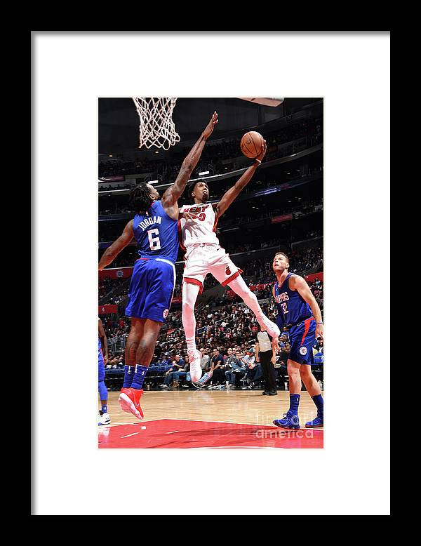 Nba Pro Basketball Framed Print featuring the photograph Josh Richardson by Andrew D. Bernstein