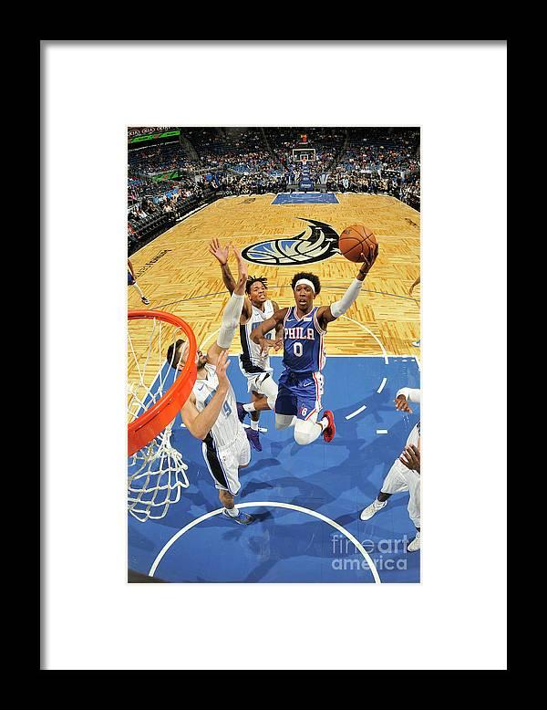 Nba Pro Basketball Framed Print featuring the photograph Josh Richardson by Fernando Medina