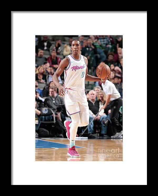 Nba Pro Basketball Framed Print featuring the photograph Josh Richardson by Glenn James