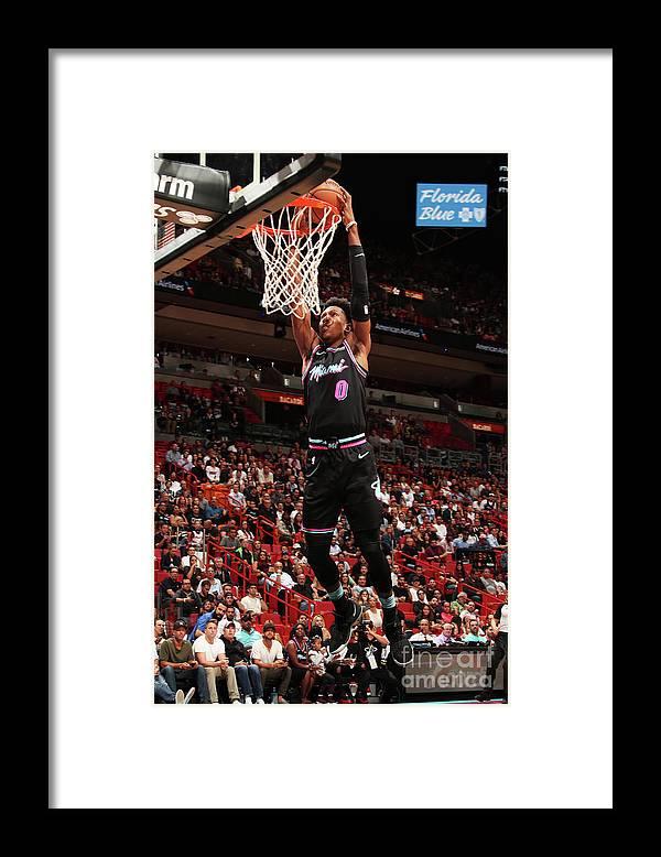 Nba Pro Basketball Framed Print featuring the photograph Josh Richardson by Issac Baldizon