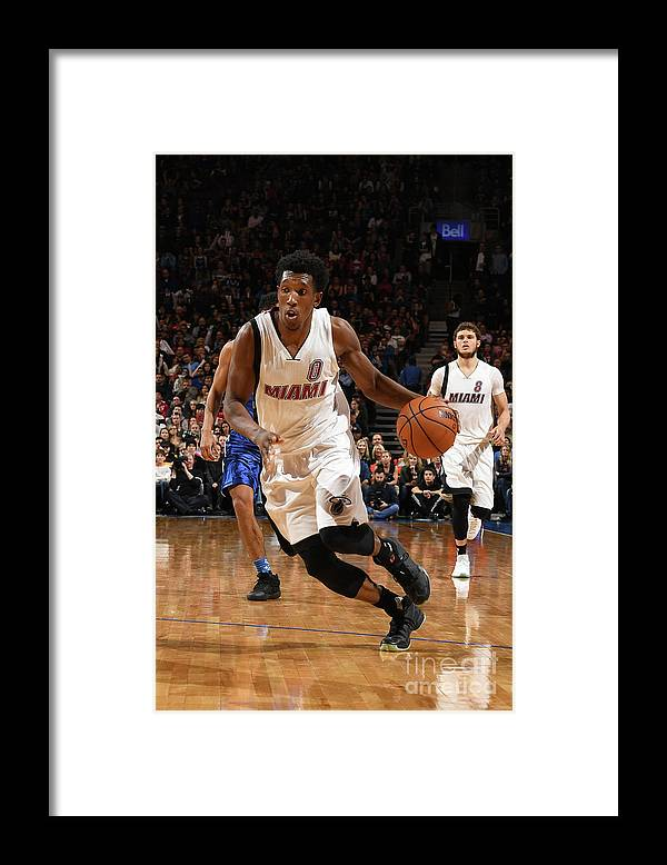 Nba Pro Basketball Framed Print featuring the photograph Josh Richardson by Ron Turenne