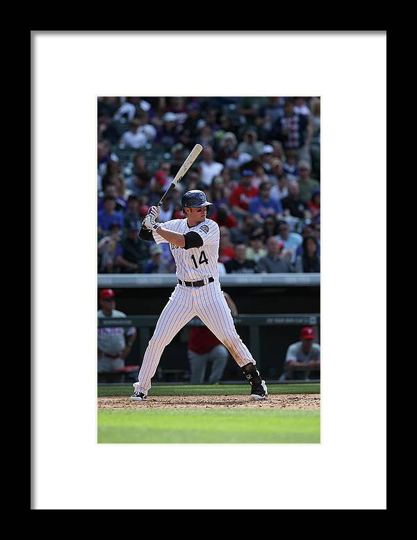 National League Baseball Framed Print featuring the photograph Josh Rutledge by Doug Pensinger