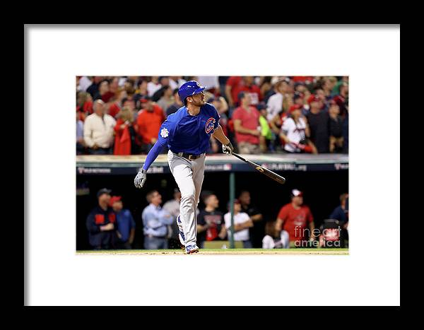 People Framed Print featuring the photograph Josh Tomlin And Kris Bryant by Tim Bradbury
