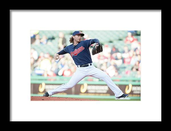 Second Inning Framed Print featuring the photograph Josh Tomlin by Jason Miller
