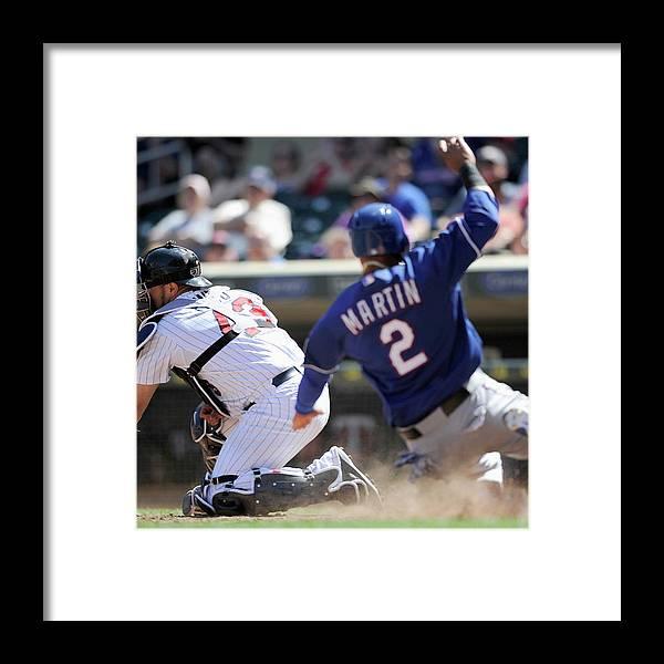 American League Baseball Framed Print featuring the photograph Josmil Pinto by Hannah Foslien