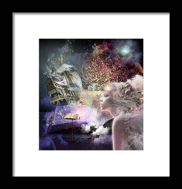 Fairy Tales Framed Print featuring the digital art Journey of Fairy Tales by Laura Botsford