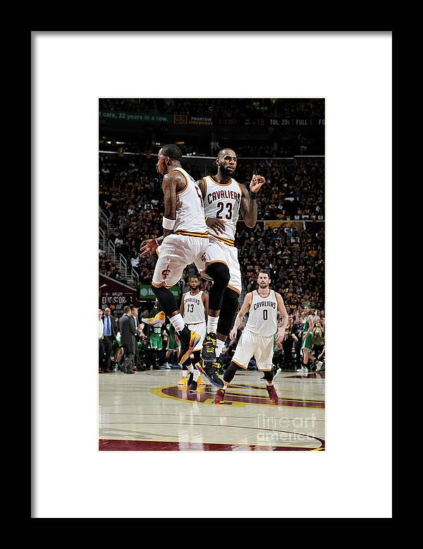 Playoffs Framed Print featuring the photograph J.r. Smith and Lebron James by David Liam Kyle