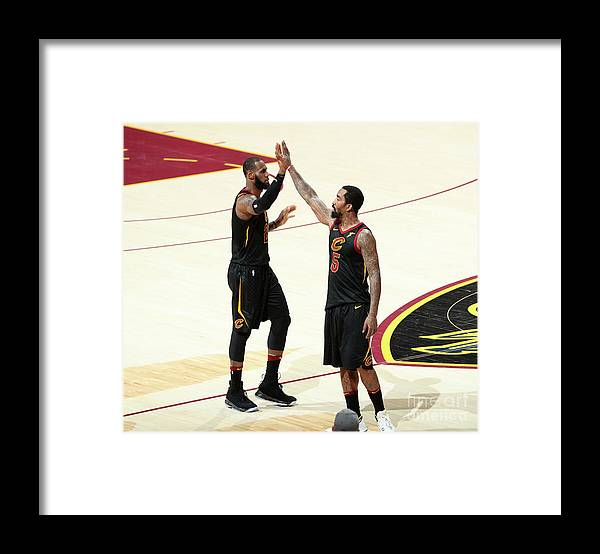 Playoffs Framed Print featuring the photograph J.r. Smith and Lebron James by Nathaniel S. Butler