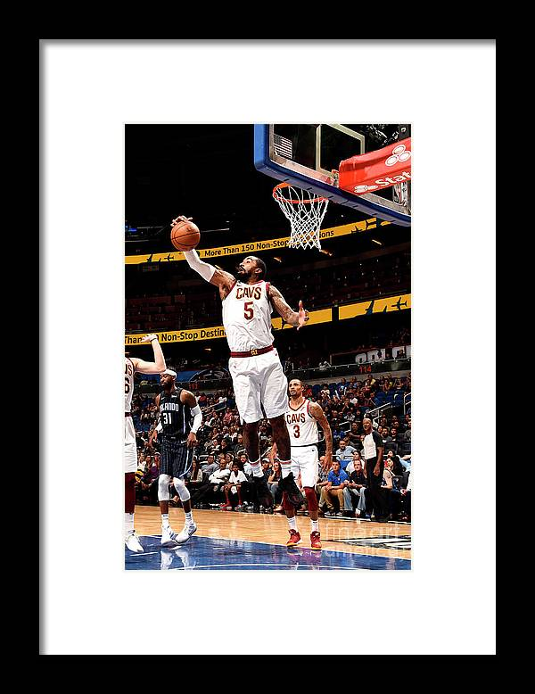 Nba Pro Basketball Framed Print featuring the photograph J.r. Smith by Gary Bassing