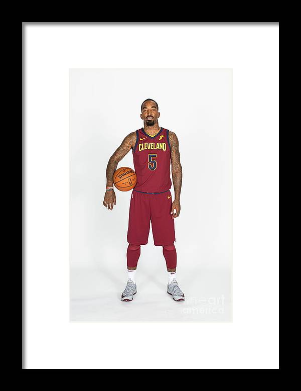 Media Day Framed Print featuring the photograph J.r. Smith by Michael J. Lebrecht Ii