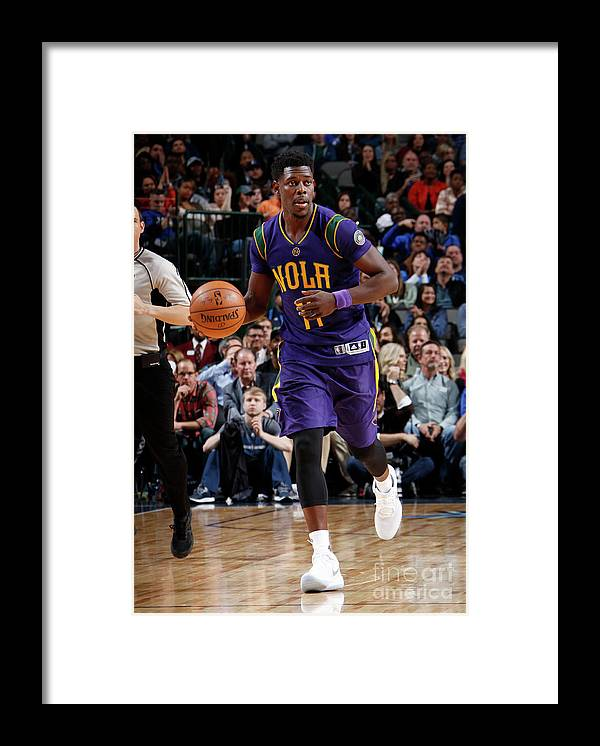 Nba Pro Basketball Framed Print featuring the photograph Jrue Holiday by Glenn James