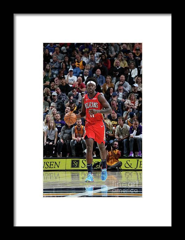 Nba Pro Basketball Framed Print featuring the photograph Jrue Holiday by Melissa Majchrzak