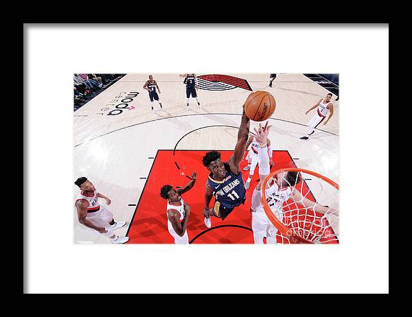 Playoffs Framed Print featuring the photograph Jrue Holiday by Sam Forencich