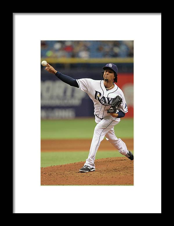 American League Baseball Framed Print featuring the photograph Juan Carlos Oviedo by Scott Iskowitz