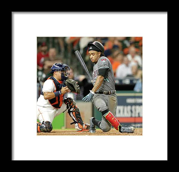 People Framed Print featuring the photograph Juan Centeno and Tyler Clippard by Bob Levey