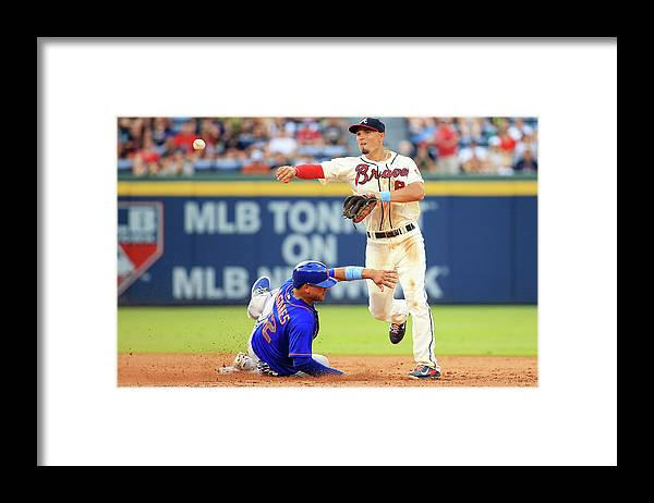 Atlanta Framed Print featuring the photograph Juan Lagares and Jace Peterson by Daniel Shirey