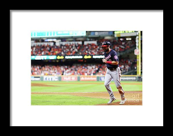 People Framed Print featuring the photograph Juan Soto And Adam Eaton by Mike Ehrmann