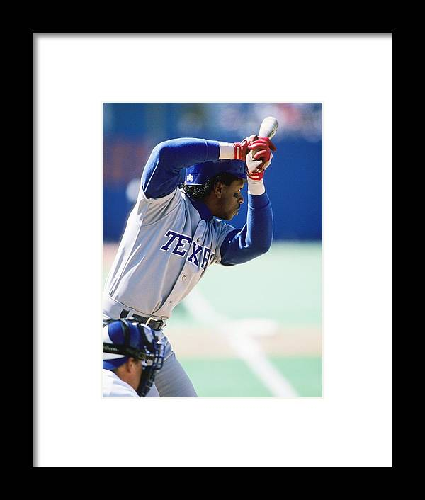 1980-1989 Framed Print featuring the photograph Julio Franco by Ronald C. Modra/sports Imagery
