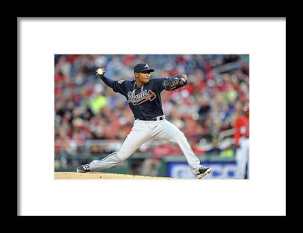 Julio Teheran Framed Print featuring the photograph Julio Teheran by Mitchell Layton