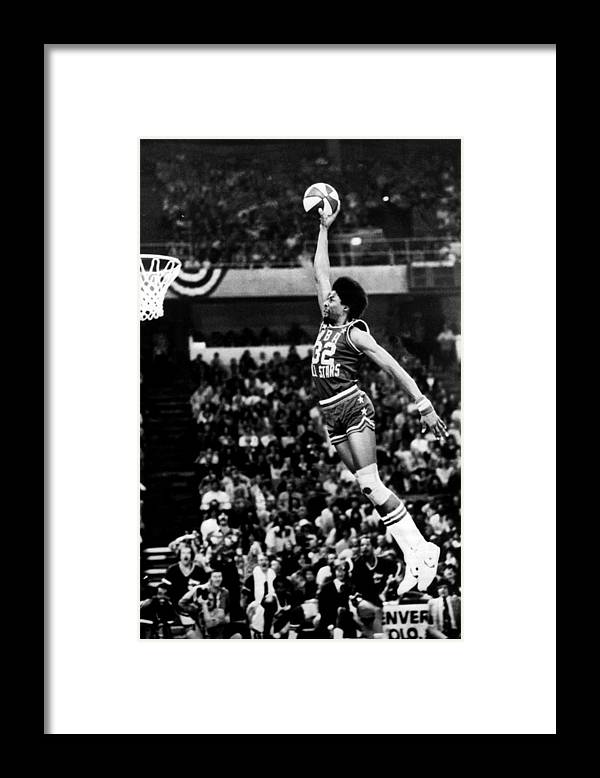 Mcnichols Sports Arena Framed Print featuring the photograph Julius Erving by Nba Photos