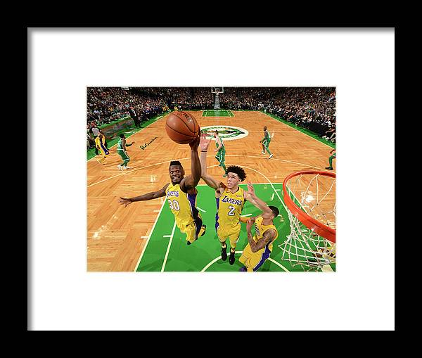 Nba Pro Basketball Framed Print featuring the photograph Julius Randle and Lonzo Ball by Jesse D. Garrabrant
