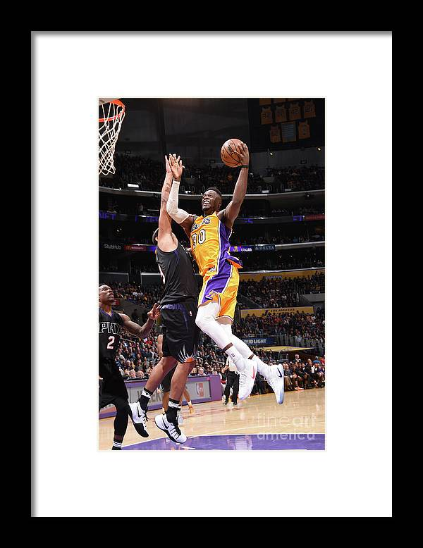 Nba Pro Basketball Framed Print featuring the photograph Julius Randle by Andrew D. Bernstein