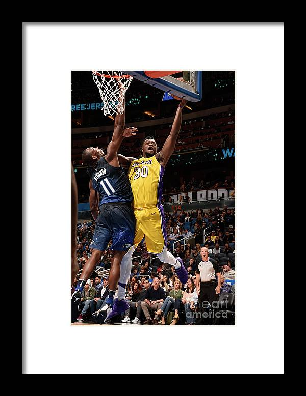 Nba Pro Basketball Framed Print featuring the photograph Julius Randle by Gary Bassing