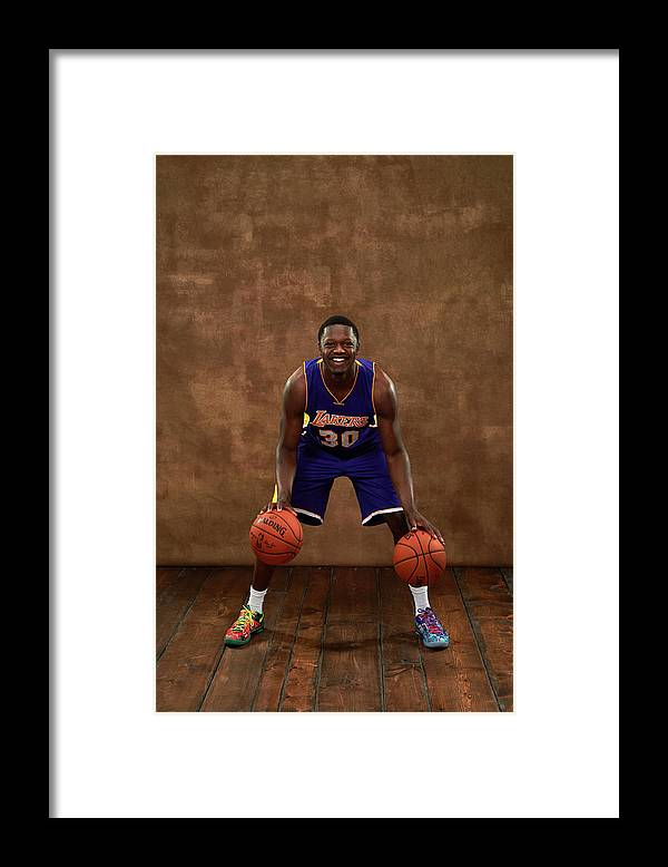 Nba Pro Basketball Framed Print featuring the photograph Julius Randle by Jennifer Pottheiser