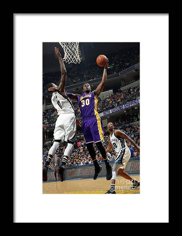 Nba Pro Basketball Framed Print featuring the photograph Julius Randle by Joe Murphy
