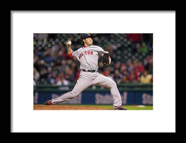 Ninth Inning Framed Print featuring the photograph Junichi Tazawa by Jason Miller