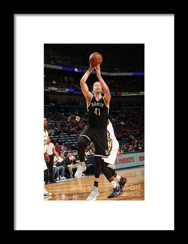 Smoothie King Center Framed Print featuring the photograph Justin Hamilton by Layne Murdoch
