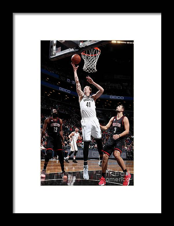 Nba Pro Basketball Framed Print featuring the photograph Justin Hamilton by Nathaniel S. Butler
