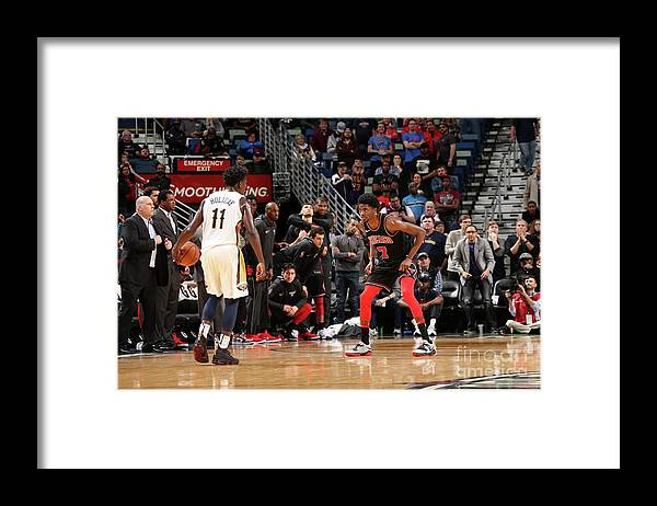 Smoothie King Center Framed Print featuring the photograph Justin Holiday by Layne Murdoch