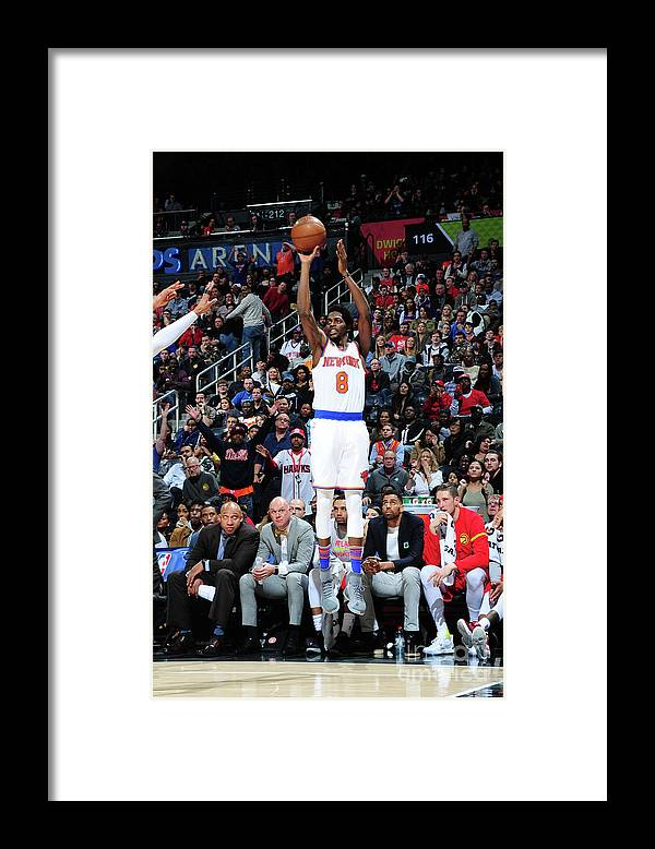 Atlanta Framed Print featuring the photograph Justin Holiday by Scott Cunningham