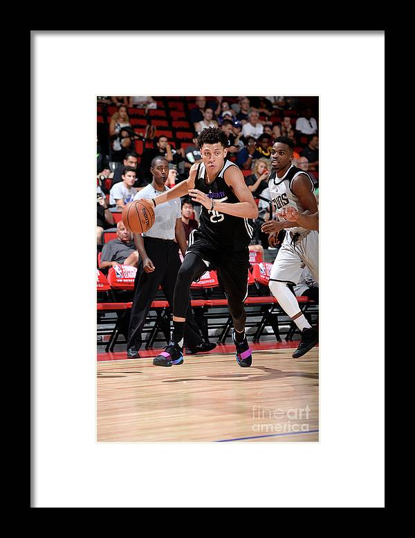Nba Pro Basketball Framed Print featuring the photograph Justin Jackson by David Dow