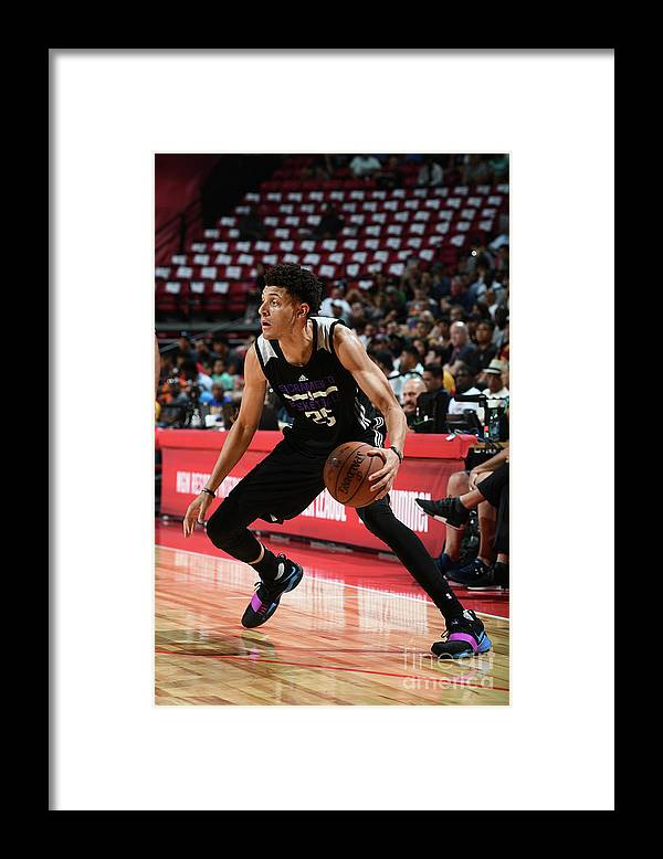 Nba Pro Basketball Framed Print featuring the photograph Justin Jackson by Garrett Ellwood