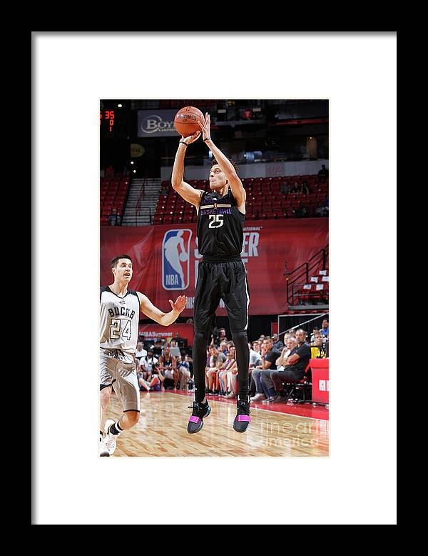 Nba Pro Basketball Framed Print featuring the photograph Justin Jackson by Jack Arent