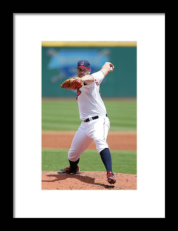 American League Baseball Framed Print featuring the photograph Justin Masterson by Joe Robbins