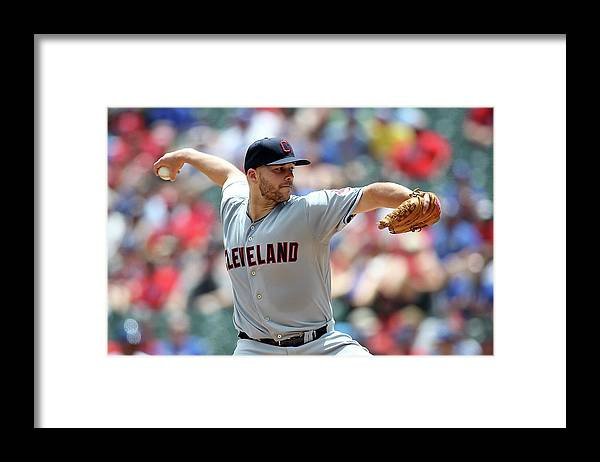 Second Inning Framed Print featuring the photograph Justin Masterson by Rick Yeatts