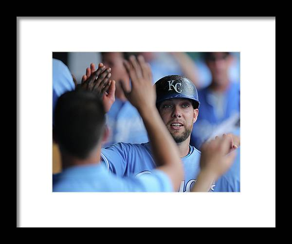 Second Inning Framed Print featuring the photograph Justin Maxwell And Alex Gordon by Ed Zurga