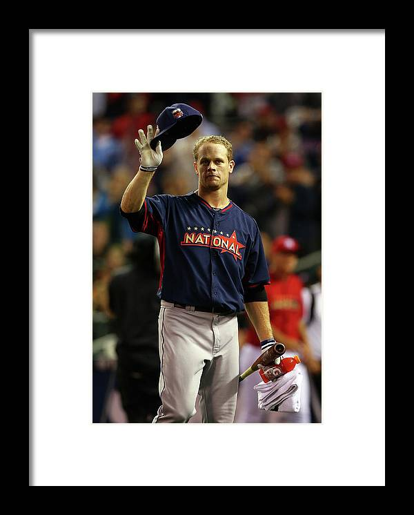 Crowd Framed Print featuring the photograph Justin Morneau by Elsa