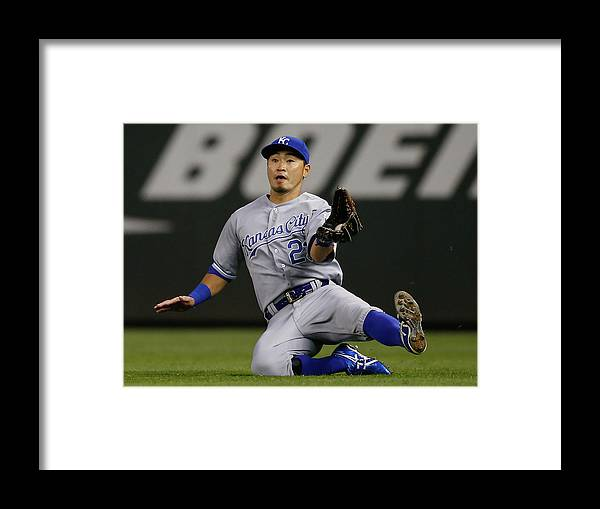 American League Baseball Framed Print featuring the photograph Justin Smoak by Otto Greule Jr