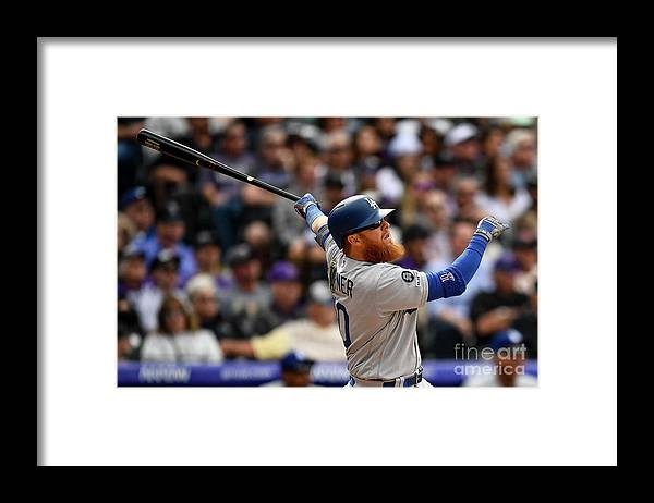 People Framed Print featuring the photograph Justin Turner by Dustin Bradford