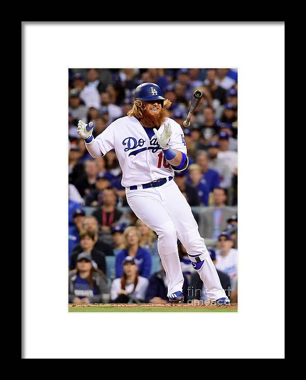 People Framed Print featuring the photograph Justin Turner by Harry How