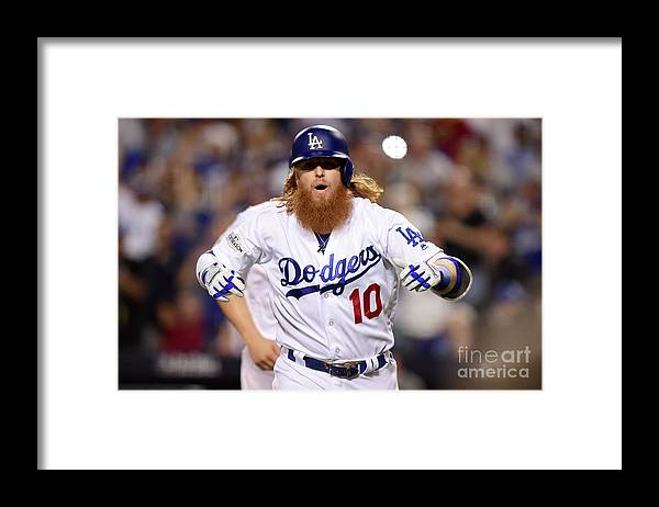 Three Quarter Length Framed Print featuring the photograph Justin Turner by Maxx Wolfson