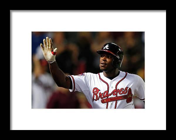Atlanta Framed Print featuring the photograph Justin Upton And Jason Heyward by Kevin C. Cox