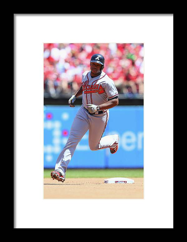 Individual Event Framed Print featuring the photograph Justin Upton by Dilip Vishwanat