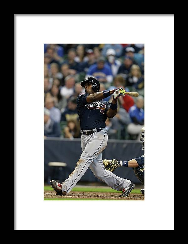Home Base Framed Print featuring the photograph Justin Upton by Mike Mcginnis