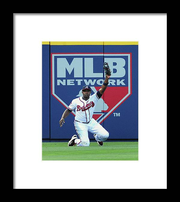 Atlanta Framed Print featuring the photograph Justin Upton by Scott Cunningham