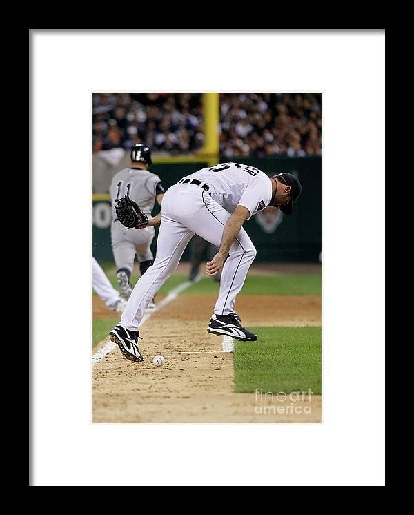 American League Baseball Framed Print featuring the photograph Justin Verlander and Brett Gardner by Gregory Shamus